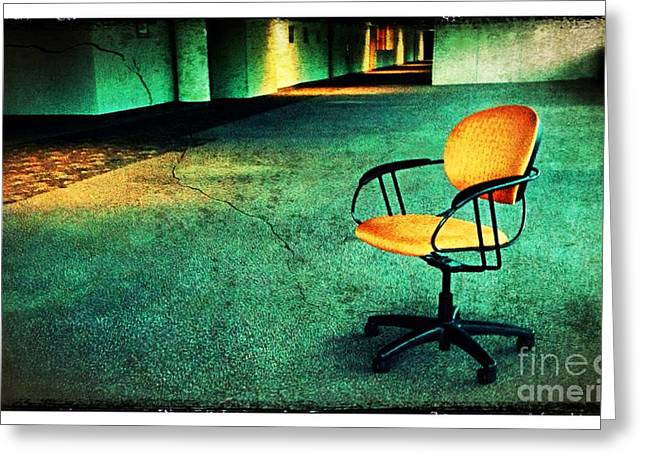 Empty Chairs Digital Greeting Cards - Chair2 Greeting Card by Perry Webster