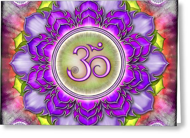 Energize Digital Greeting Cards - Chakra Sahasrara III Series 2012 Greeting Card by Dirk Czarnota