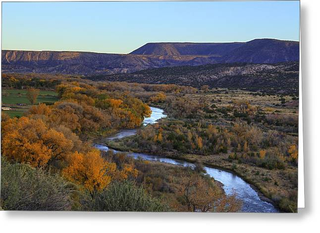 Chama River Greeting Cards - Chama River at Sunset Greeting Card by Alan Vance Ley