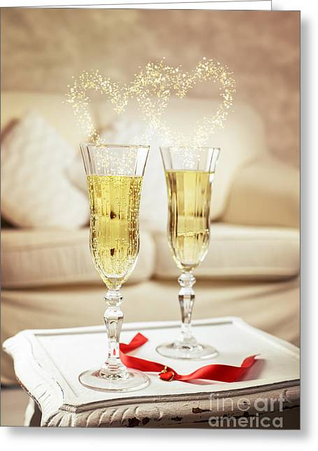 Bubbly Greeting Cards - Champagne Greeting Card by Amanda And Christopher Elwell