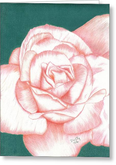 Raspberry Drawings Greeting Cards - Champaign Pink Greeting Card by Dusty Reed