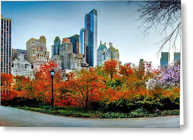 Midtown Greeting Cards - Changing Of The Seasons Greeting Card by Az Jackson