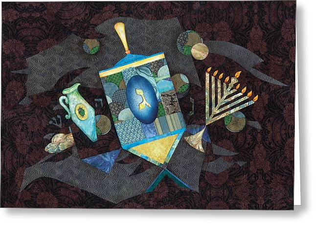 Hanukah Greeting Cards - Chanukah Greeting Card by Michoel Muchnik