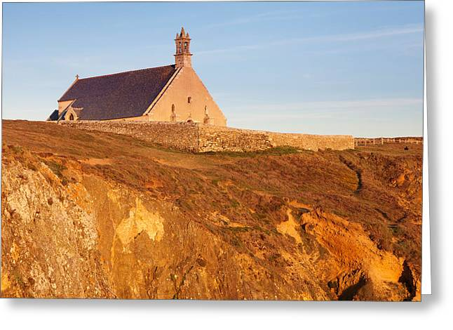 They Greeting Cards - Chapel On A Cliff, Chapelle Saint-they Greeting Card by Panoramic Images