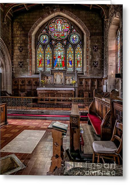 Religious Digital Greeting Cards - Chapel Window Greeting Card by Adrian Evans