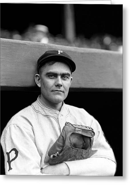 """pittsburgh Pirates"" Greeting Cards - Charles B. Babe Adams Greeting Card by Retro Images Archive"