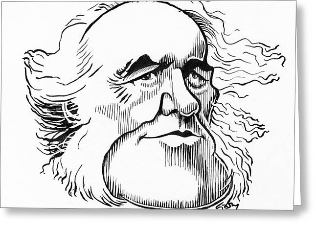 Sir Charles Greeting Cards - Charles Lyell, Caricature Greeting Card by Gary Brown