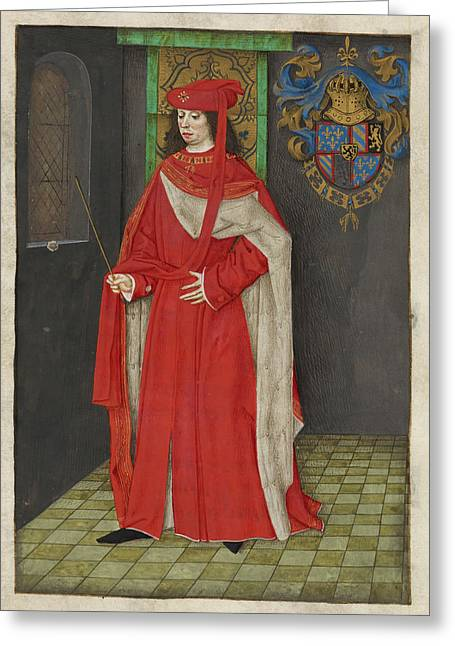 Charles The Bold Greeting Card by British Library