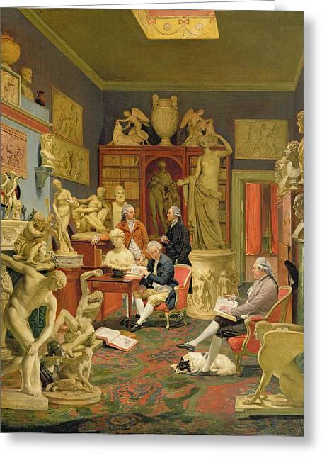 Charles Townley And His Friends Greeting Card by Johann Zoffany