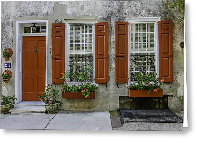 Charleston Sidewalk Greeting Cards - Charleston Architecture Series Greeting Card by Wendy Mogul