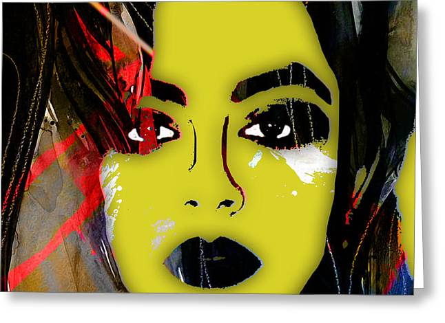 Charlotte Framed Art Greeting Cards - Charli XCX Collection Greeting Card by Marvin Blaine