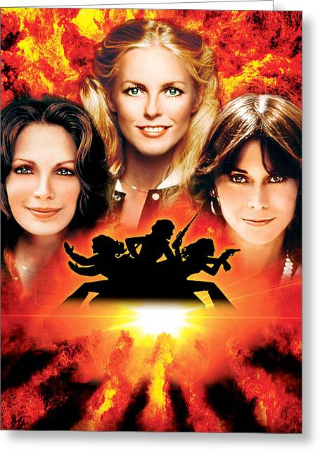Charlie Greeting Cards - Charlies Angels  Greeting Card by Silver Screen