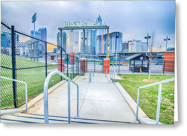 Charlotte Greeting Cards - Charlotte Ballpark Greeting Card by Alexandr Grichenko