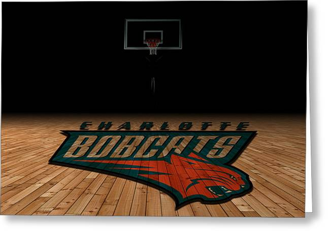 March Greeting Cards - Charlotte Bobcats Greeting Card by Joe Hamilton