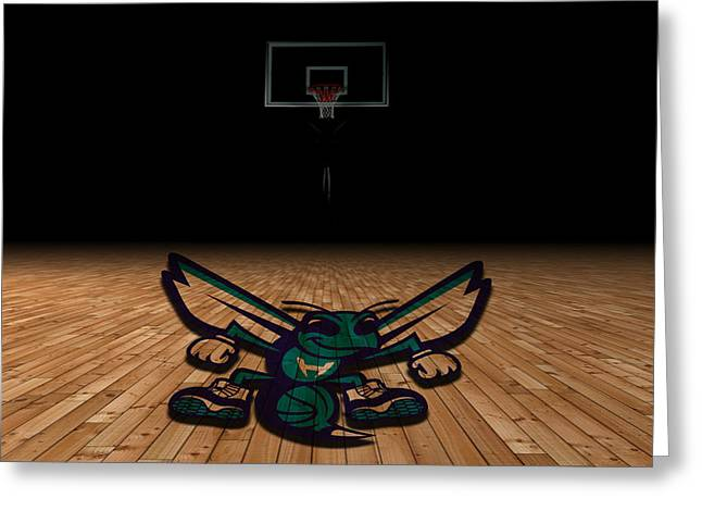 Dunk Greeting Cards - Charlotte Hornets Greeting Card by Joe Hamilton