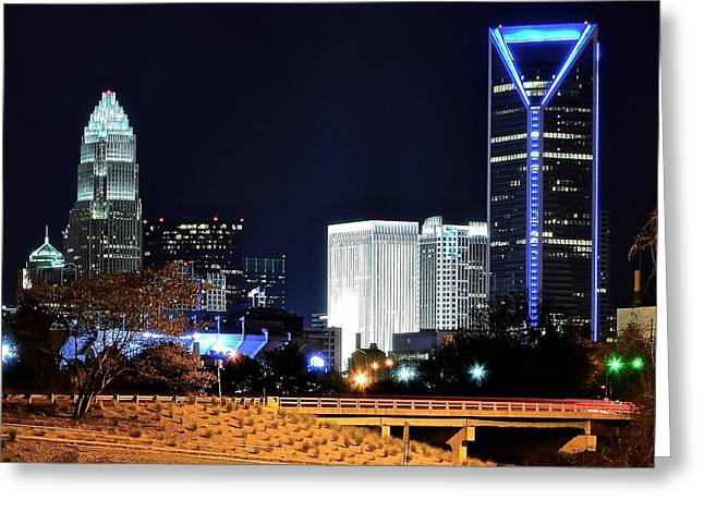 Charlotte Greeting Cards - Charlotte Towers Greeting Card by Frozen in Time Fine Art Photography