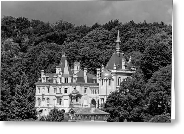Wood Castle Greeting Cards - Chateau de Jonval Greeting Card by Mountain Dreams