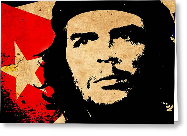 Che Greeting Cards - Che Guevara Greeting Card by Andrew Fare