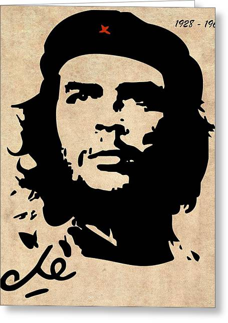 Marxism Greeting Cards - Che Guevara Greeting Card by T Lang