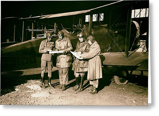 Checking Flight Plans 1920 Greeting Card by Mountain Dreams