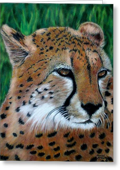 Kid Pastels Greeting Cards - Cheetah Greeting Card by Carol McCarty