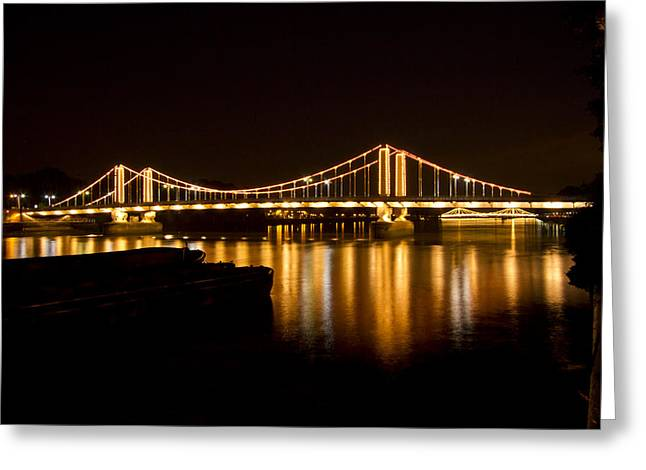 Chelsea Greeting Cards - Chelsea Bridge Thames London Greeting Card by David French