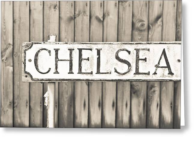 Posh Greeting Cards - Chelsea Greeting Card by Tom Gowanlock