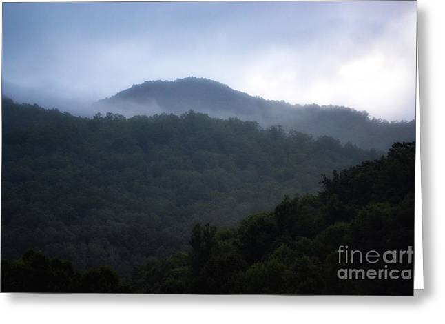 Eva Thomas Greeting Cards - Cherokee Mountains Greeting Card by Eva Thomas