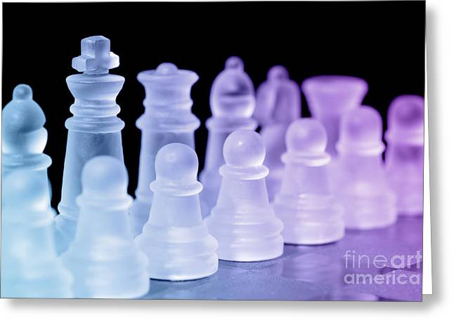 Chess Rook Greeting Cards - Chess Pieces Greeting Card by Amanda And Christopher Elwell