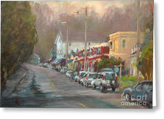 Streets Ceramics Greeting Cards - Chester - Early Spring Greeting Card by B Rossitto