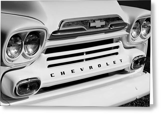 Classic Pickup Truck Greeting Cards - Chevrolet Apache 31 Fleetline Pickup Truck Greeting Card by Jill Reger