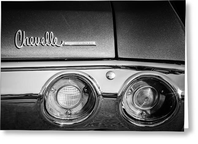 Best Images Photographs Greeting Cards - Chevrolet Chevelle SS Taillight Emblem -0015c Greeting Card by Jill Reger
