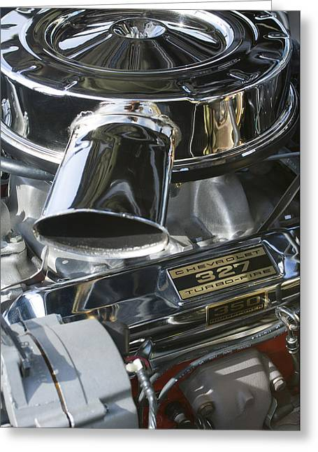 Famous Photographer Greeting Cards - Chevrolet Engine Greeting Card by Jill Reger