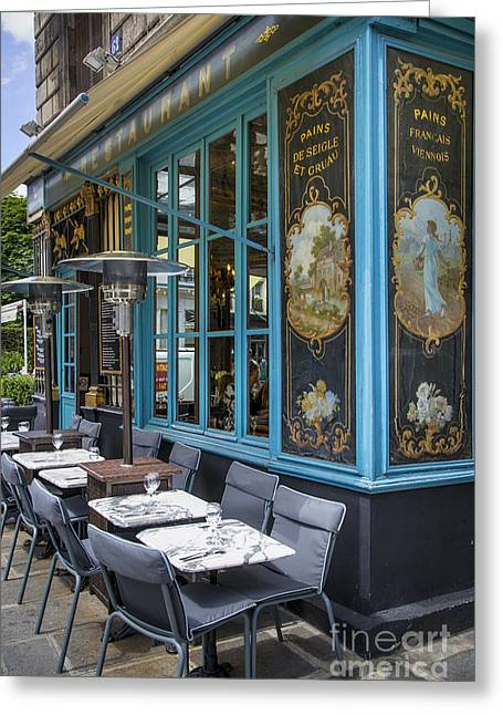 Corner Cafe Greeting Cards - Chez Julien Greeting Card by Brian Jannsen