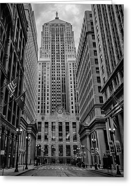 Chicago Board Of Trade Greeting Card by Mike Burgquist