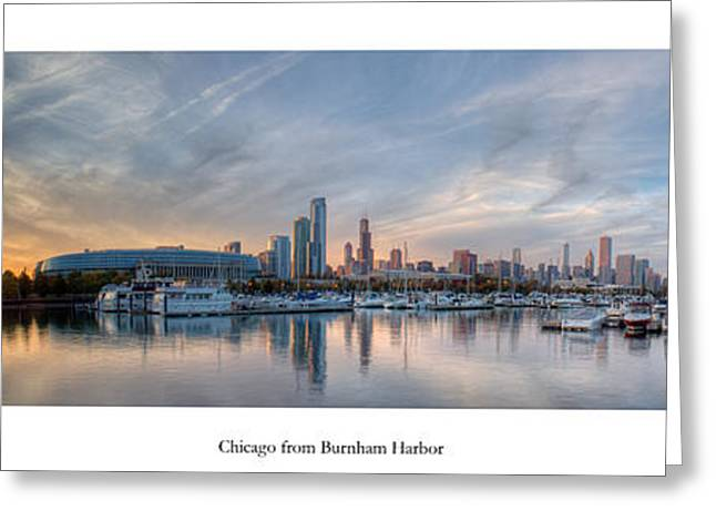 Chicago From Burnham Harbor Greeting Card by Twenty Two North Photography