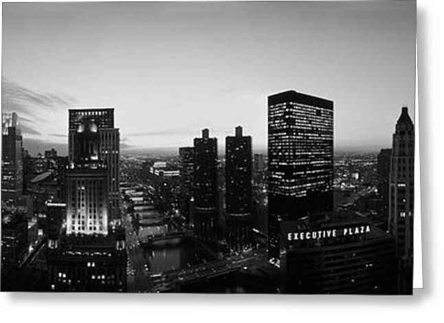River View Greeting Cards - Chicago, Illinois, Usa Greeting Card by Panoramic Images