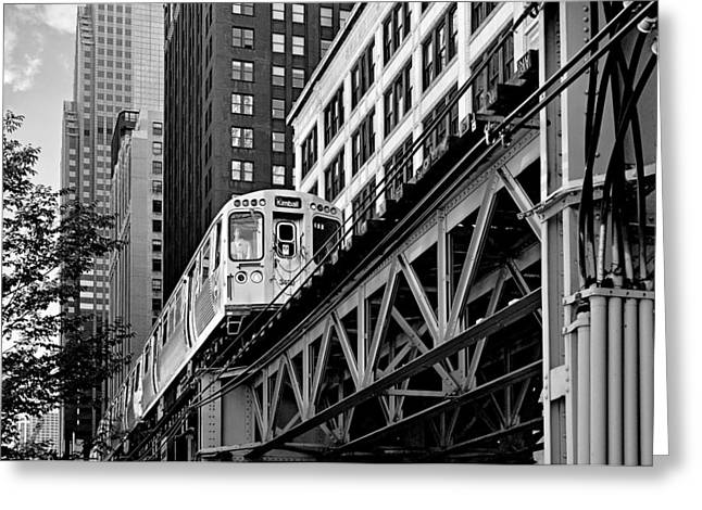 El Greeting Cards - Chicago Loop L Greeting Card by Christine Till