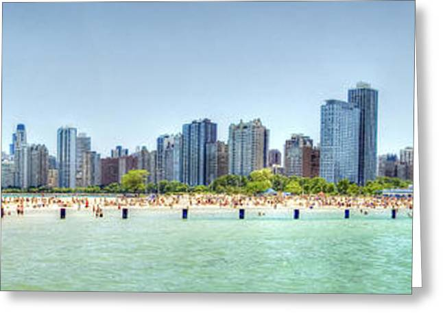 Chicago North Avenue Beach Greeting Card by Patrick  Warneka