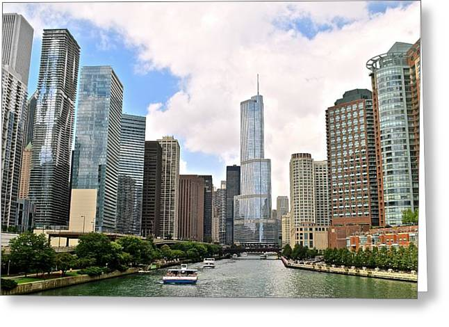 Beachfront Greeting Cards - Chicago Panorama Greeting Card by Frozen in Time Fine Art Photography