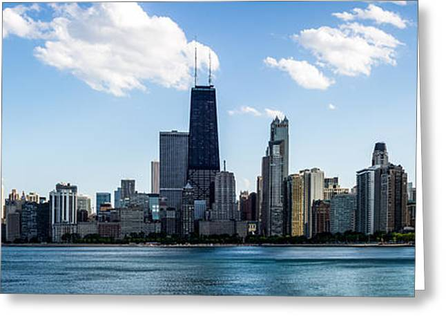 Colorful Photos Greeting Cards - Chicago Panorama Skyline Greeting Card by Paul Velgos