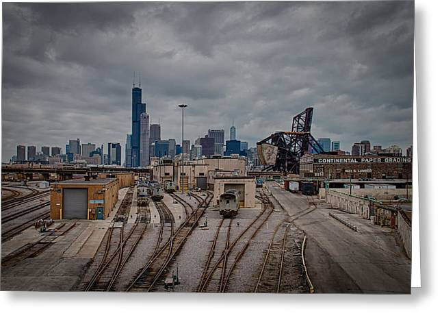 Lop Greeting Cards - Chicago Skyline Greeting Card by Mike Burgquist