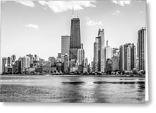 Chicago Prints Greeting Cards - Chicago Skyline Panorama Photo Greeting Card by Paul Velgos