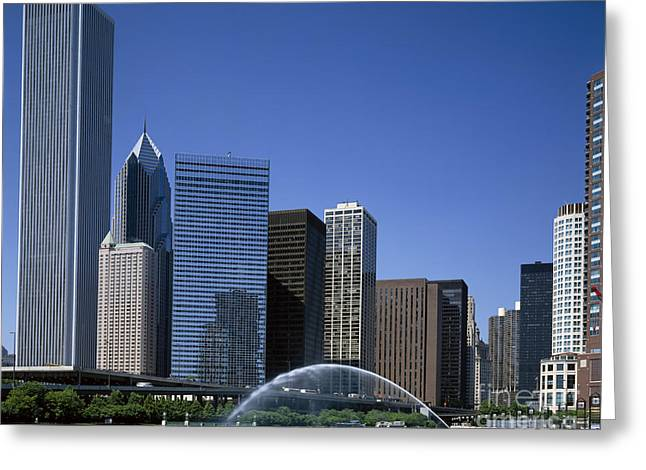 Installation Art Greeting Cards - Chicago Skyline Greeting Card by Rafael Macia