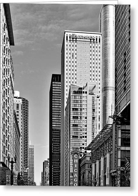Chicago State Street - That Great Street Greeting Card by Christine Till