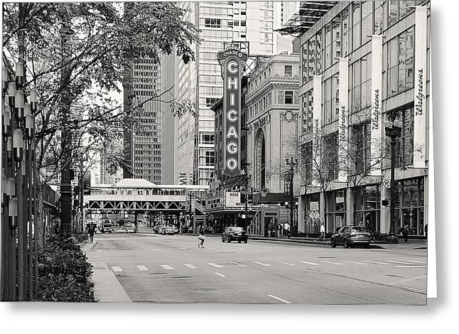 Interior Scene Greeting Cards - Chicago Theatre - French Baroque out of a movie Greeting Card by Christine Till