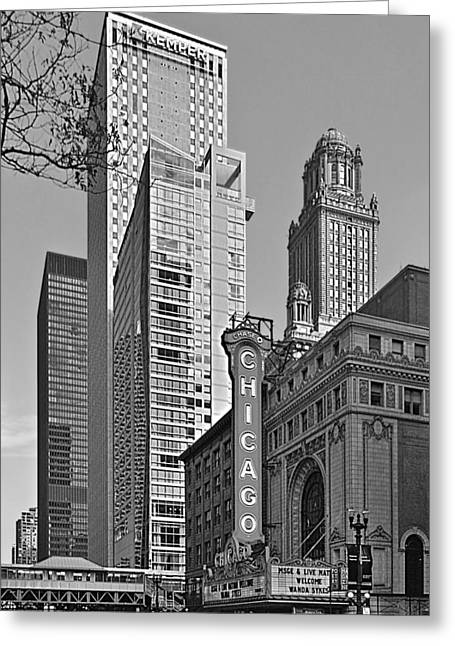 Best Sellers -  - Popular Art Greeting Cards - Chicago Theatre - This theater exudes class Greeting Card by Christine Till