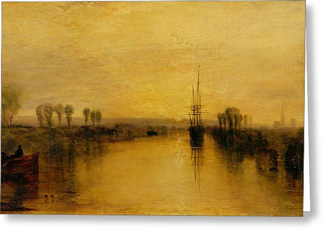 Autumn Prints Greeting Cards - Chichester Canal Greeting Card by Joseph Mallord William Turner