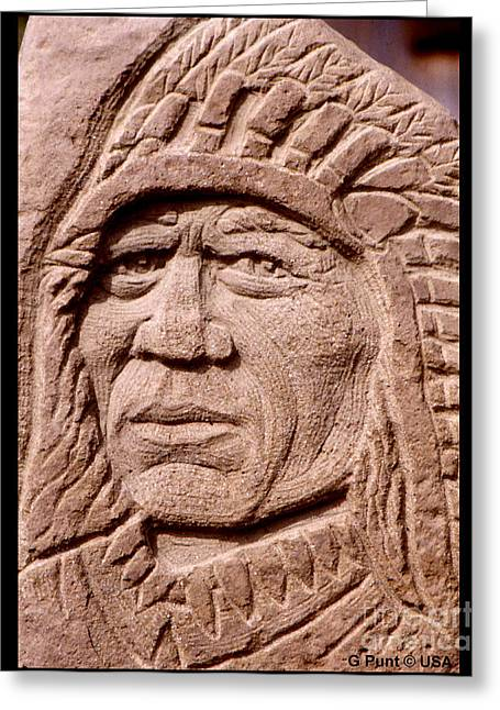 Chief-iron-tail Greeting Card by Gordon Punt