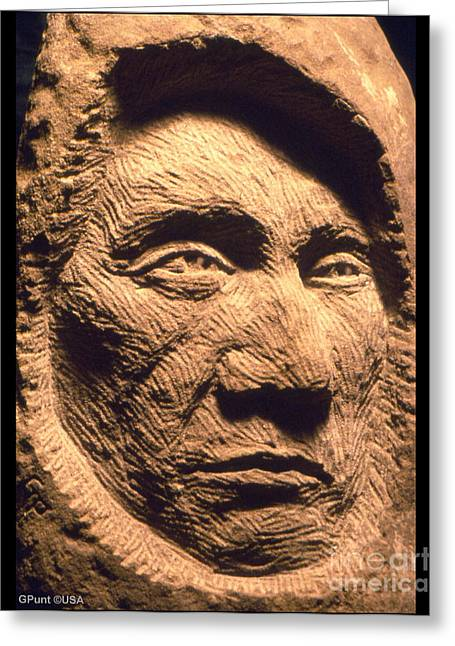Iron Sculptures Greeting Cards - Chief-Red-Cloud Greeting Card by Gordon Punt